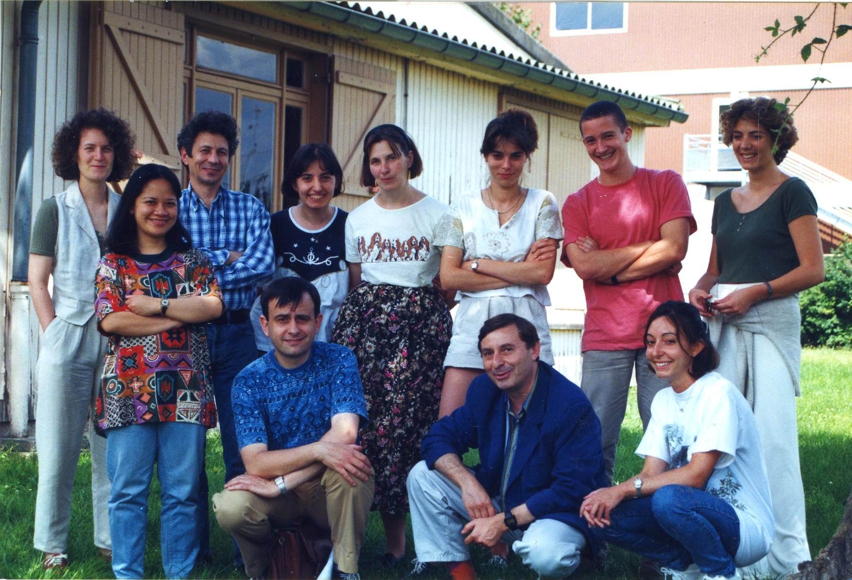 Les membres du laboratoire, il y a quelques années